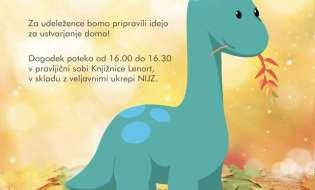 Pravljično druženje z dinozavri v Knjižnici Lenart
