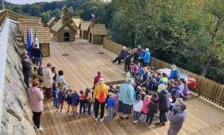 Na Sveti Ani tudi uradno odprli miniaturno vasico