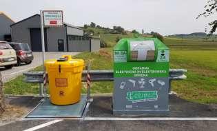 V Jurovskem Dolu so postavili posebno zbiralnico za zbiranje odpadnega jedilnega olja iz gospodinjstev
